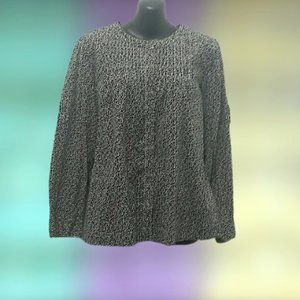 Liz Claiborne black and white spotted top
